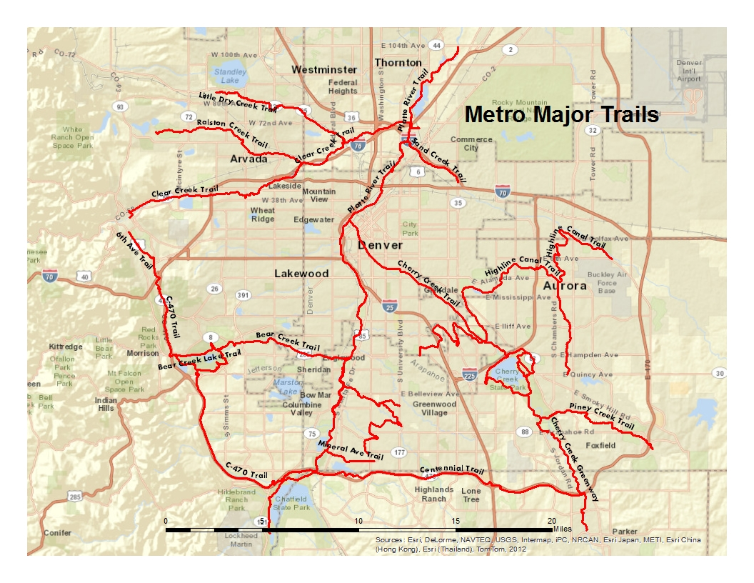 Platte River Trail  coloradobikemaps