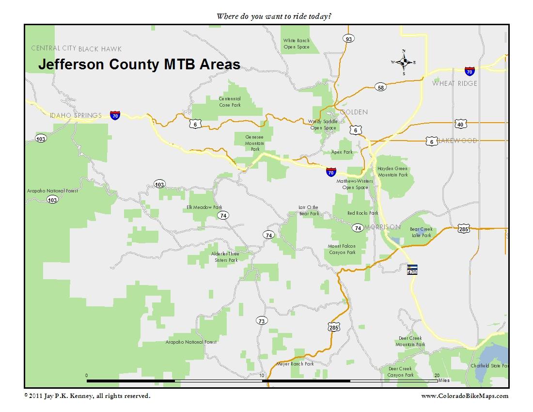 Jefferson County MTB Areas « coloradobikemaps on