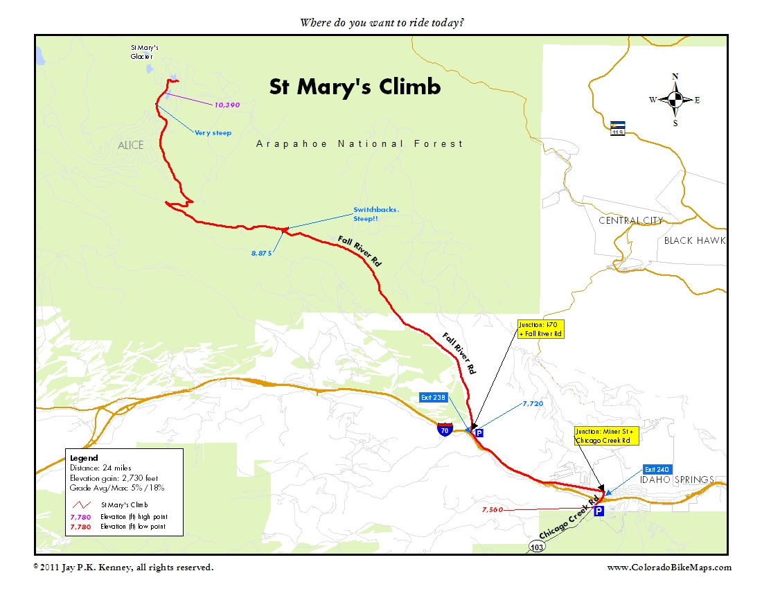 hike trail map click for a map of st mary's glacier near idaho springscolorado. st marys glacier hike near idaho springs