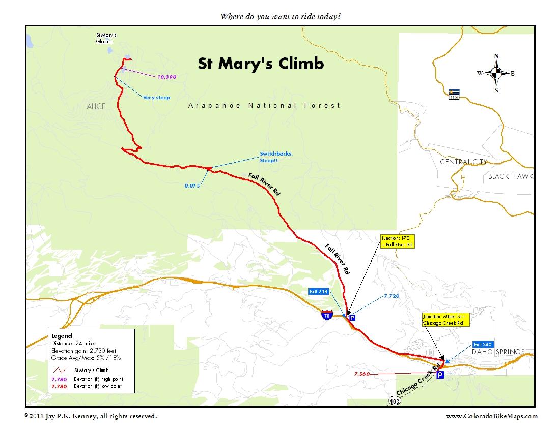 St. Marys Glacier Hike near Idaho Springs on