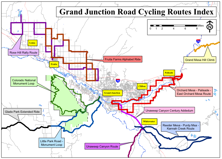 Grand Junction road rides « coloradobikemaps