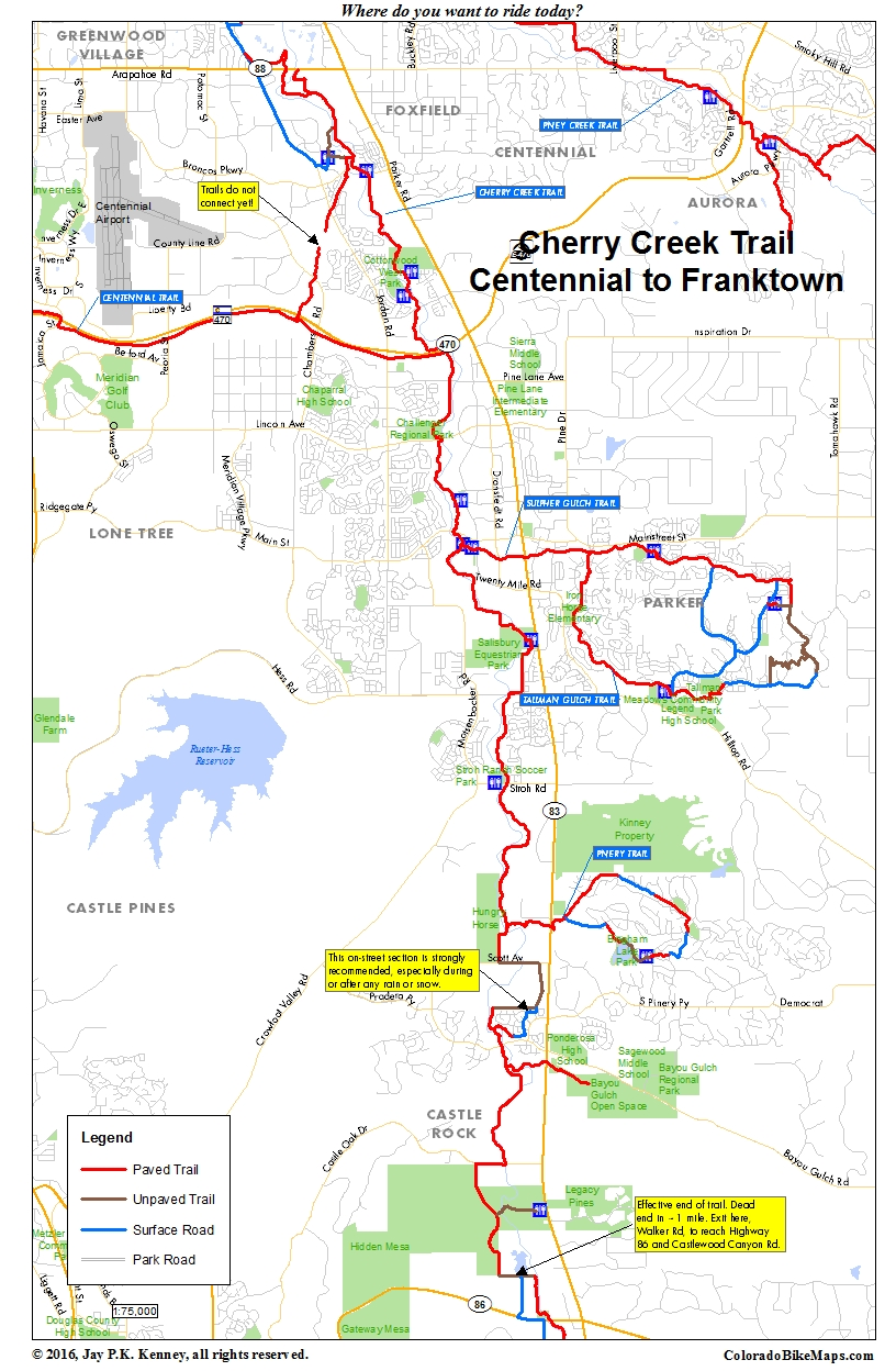 Coloradobikemaps for Cherrycreek